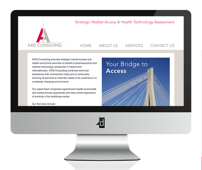 Axis Consulting, Website Design & Web Development, Brochure Style Website Design, Oranmore, Co. Galway.