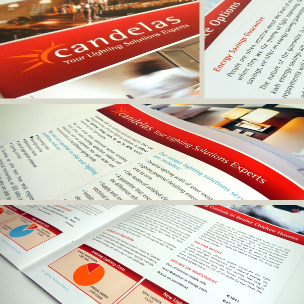 Candelas, Logo/Brand Identity, Business Stationery & Marketing Literature, Dublin, Kiltimagh, Co. Mayo, Ireland.