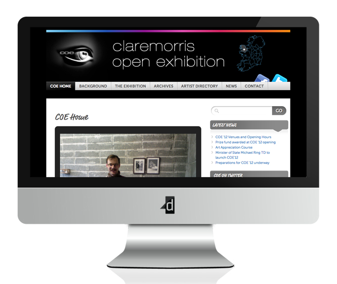Claremorris Open Exhibition, Website Design & Web Development, Content Managed Website,  Claremorris, Co. Mayo, Ireland.