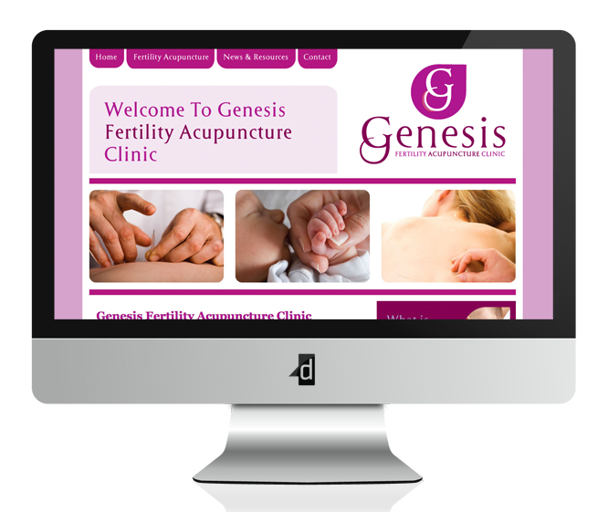 Genesis Fertility Acupuncture Clinic Website Design and Development, Oranmore, Co. Galway, Ireland.