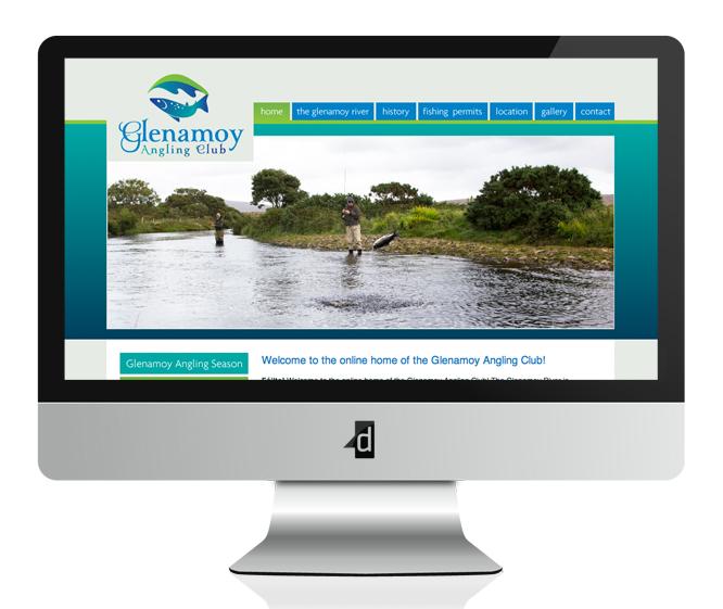 Glenamoy Angling Club Website Design & Development, Belmullet, Ballina, Co. Mayo, Ireland.