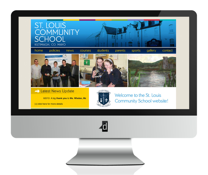 St. Louis Community School Website Design and Development, Kiltimagh, Co. Mayo, Ireland.