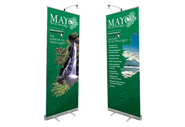 Mayo.ie - Mayo County Council, Roll-up Banner Design and Branding Concept Design, Castlebar, Co. Mayo, Ireland.